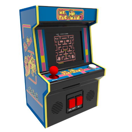 Arcade Classics - Ms Pac Man Retro Mini Arcade Game | Basic Fun!