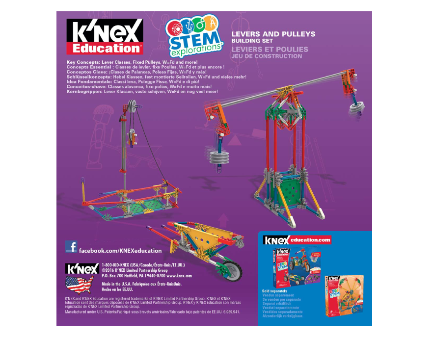 K'nex | K'nex Education | Stem Explorations Levers And Pulleys Building Set | Basic Fun!