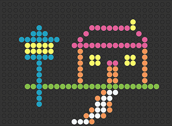 image about Printable Lite Brite Templates titled Clic Lite-Brite retro video game toy, make with mild