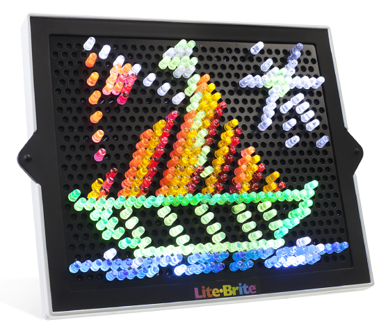 graphic relating to Printable Lite Brite Templates called Clic Lite-Brite retro match toy, make with light-weight