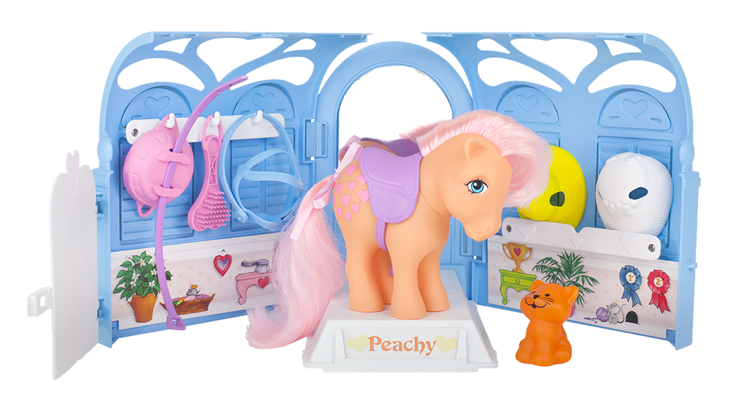 My Little Pony Classic | Pretty Parlor Playset with Peachy Pony | Basic Fun!