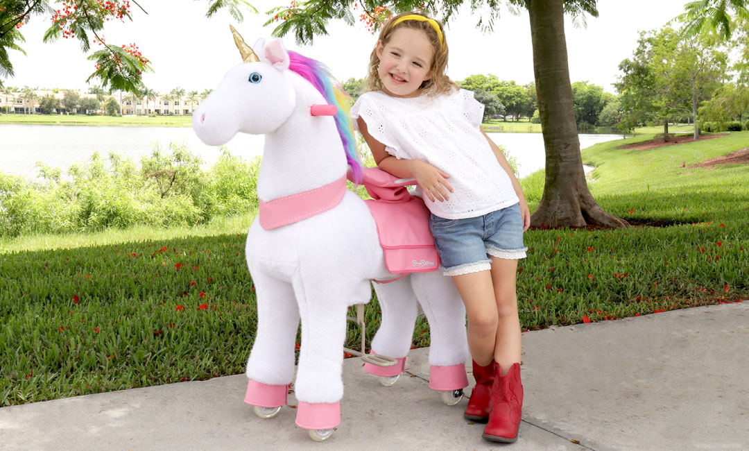 PonyRider | White Unicorn | Basic Fun!