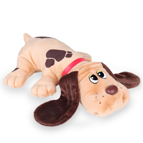 Pound Puppies | Classic | Light Brown with Dark  Brown Spots | Basic Fun!