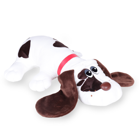 Pound Puppies | Classic | White with Brown Spots | Basic Fun!