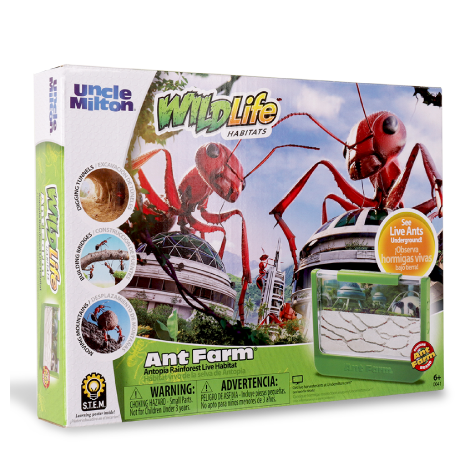 WildLife Habitats | Ant Farm Antopia Rainforest - Live Habitat | Uncle Milton | Basic Fun!