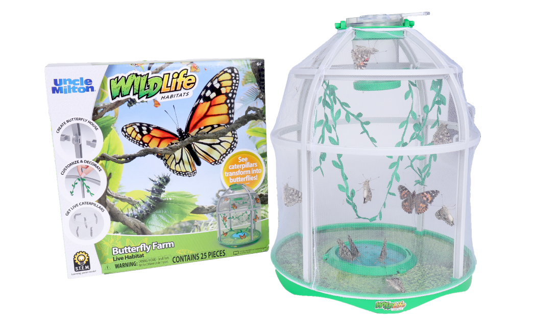 WildLife Habitats | Butterfly Farm - Live Habitat | Uncle Milton | Basic Fun!