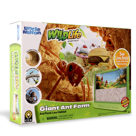 WildLife Habitats | Giant Ant Farm Ant Picnic - Live Habitat | Uncle Milton | Basic Fun!